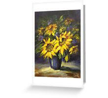 Sunflowers glow Greeting Card