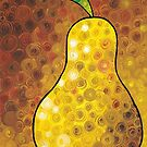 Golden Pear - Yellow Pear Art Print by Sharon Cummings