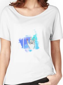 Hand Gesture Women's Relaxed Fit T-Shirt