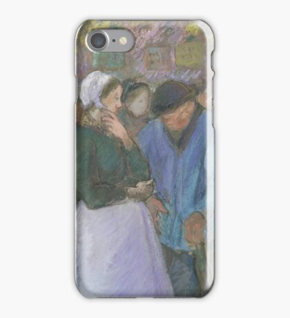 Camille Pissarro - Poultry Market at Gisors 1885 French Impressionism Landscape iPhone Case/Skin