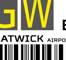 Destination London Gatwick Airport Sticker