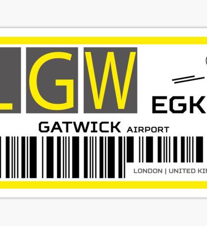 Destination London Gatwick Airport Sticker