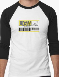 Destination London Gatwick Airport Men's Baseball ¾ T-Shirt