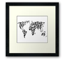 Patch up the World (black and white) Framed Print