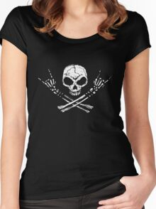 Skull Metal Women's Fitted Scoop T-Shirt
