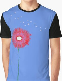 Blue Skies Pink Daisy Graphic T-Shirt