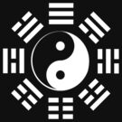 Yin Yang, I Ching, Martial Arts, Chinese, WHITE on BLACK by TOM HILL - Designer