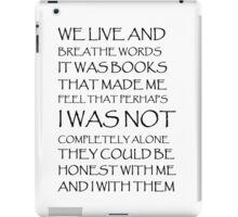 we live and breathe words  iPad Case/Skin
