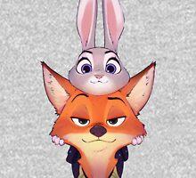 Judy and Nick  Zipped Hoodie