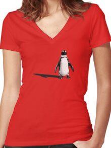 Penguin 2 (ladies T) Women's Fitted V-Neck T-Shirt