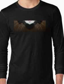 Cat Art - Super Whiskers Long Sleeve T-Shirt