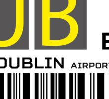 Destination Dublin Airport Sticker