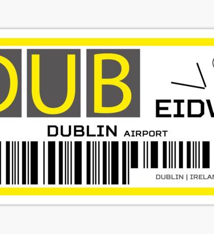 Destination Dublin Airport Sticker