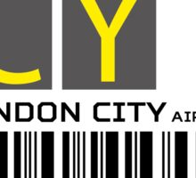 Destination London City Airport Sticker