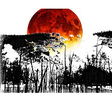 The Red Moon - Landscape Art By Sharon Cummings Photographic Print