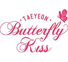 taeyeon butterfly kiss Photographic Print