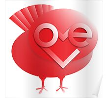 love bird in red Poster