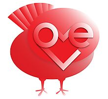love bird in red Photographic Print