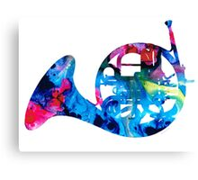 Colorful French Horn 2 - Cool Colors Abstract Art Sharon Cummings Canvas Print