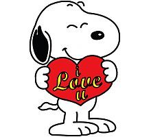 Snoopy love Photographic Print