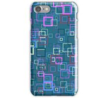 Pop art retro pop squares blue iPhone Case/Skin