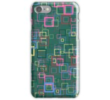 Pop art retro pop squares green iPhone Case/Skin