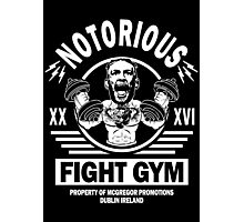 Notorious Conor Mcgregor Fight Gym Photographic Print