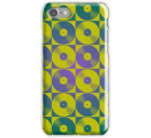 Cool retro vinyl records pop art iPhone Case/Skin