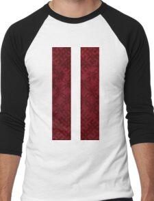 Latvian Flag with Traditional Pattern Men's Baseball ¾ T-Shirt