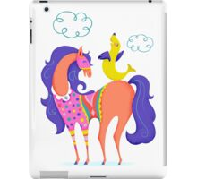 Circus Horse and Sealion, cute character illustration iPad Case/Skin