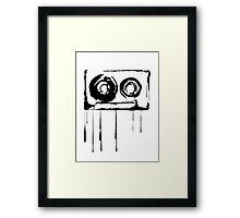 Splatter Cassette (black) Framed Print