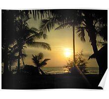Idyllic sunset Poster