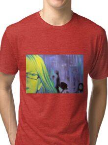 Portrait in glasses, 2011, 120-80cm, oil on canvas Tri-blend T-Shirt