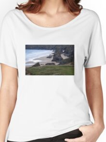 Bedruthan Steps, Newquay, Cornwall Women's Relaxed Fit T-Shirt