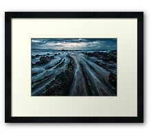 Barrika at night Framed Print