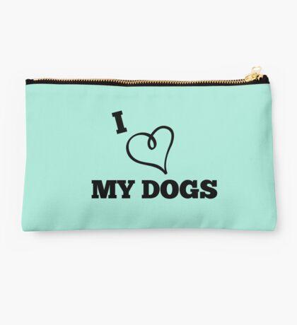 I Love My Dogs Studio Pouch