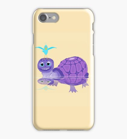 The Purple Turtle And A Bluebird Of Glee iPhone Case/Skin