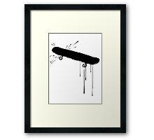 Splatter Skateboard (black) Framed Print