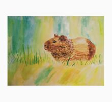 Hamster Watercolor Pattern Design One Piece - Long Sleeve