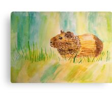 Hamster Watercolor Pattern Design Canvas Print