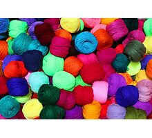 Colorful Skeins of Wool Photographic Print