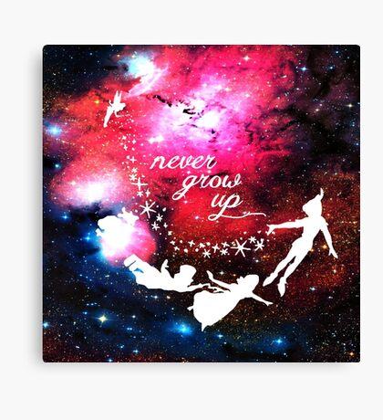 Never Grow Up Galaxy Canvas Print