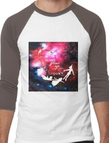 Never Grow Up Galaxy Men's Baseball ¾ T-Shirt