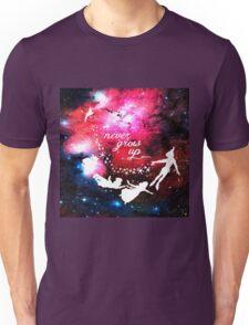 Never Grow Up Galaxy Unisex T-Shirt