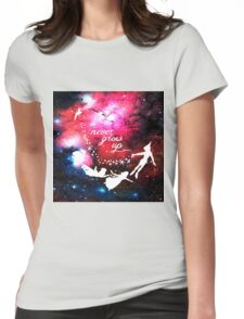 Never Grow Up Galaxy Womens Fitted T-Shirt