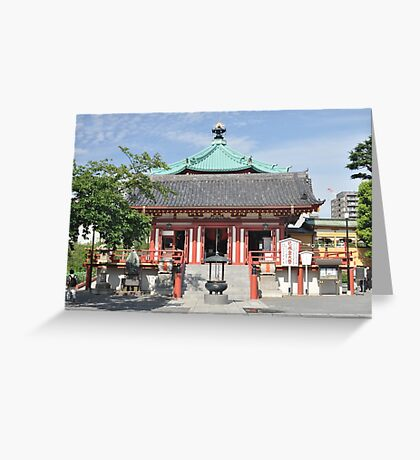 Temple of Time in Tokyo Greeting Card