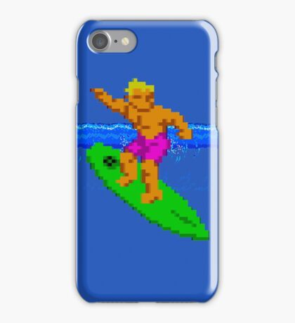 CALIFORNIA GAMES - SURFING - MASTER SYSTEM iPhone Case/Skin