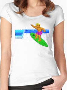 CALIFORNIA GAMES - SURFING - MASTER SYSTEM Women's Fitted Scoop T-Shirt