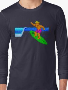 CALIFORNIA GAMES - SURFING - MASTER SYSTEM Long Sleeve T-Shirt