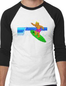 CALIFORNIA GAMES - SURFING - MASTER SYSTEM Men's Baseball ¾ T-Shirt